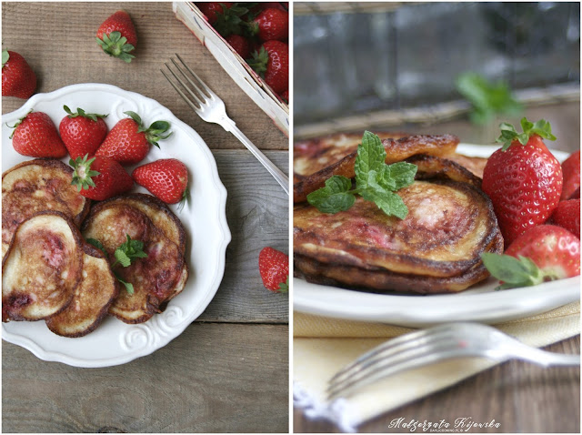 placuszki truskawkowe, racuchy, truskawki, daylicooking, Małgorzata Kijowska