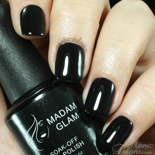 Madam Glam Gel Polish 002 Perfect Black Swatch