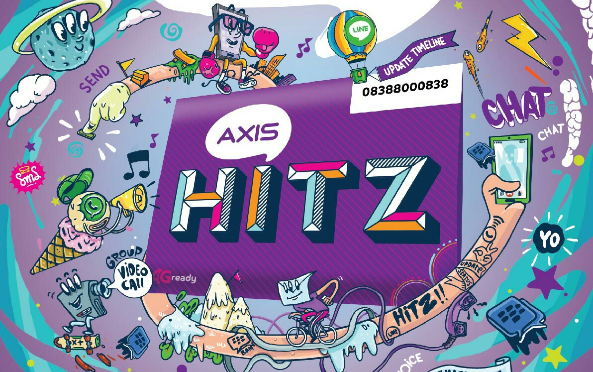 Cara Internet Gratis Axis Hitz Unlimited Terbaru