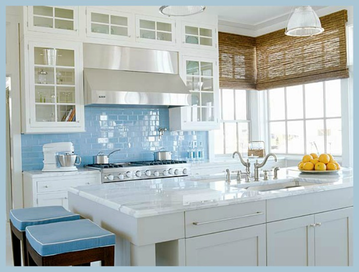 Coastal Aqua And White Kitchen Part 31
