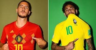 انتهت مباراه البرازيل ضد بلجيكا اليوم 6-7-2018 بفوز بلجكا وخروج البرازيل من دور ال8 بنتيجه 2 - 1