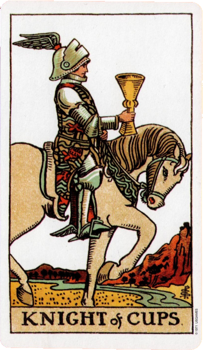 Original Rider Waite Tarot, Knight of Cups,
