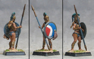1st Amazon Hoplite finished! And some WiP Shields
