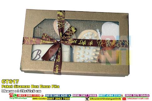 Paket Siraman Box Emas Pita