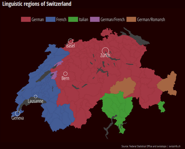 Linguistic regions of Switzerland
