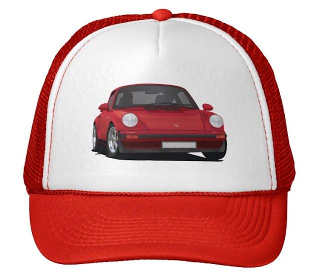 Red Porsche 911 cap