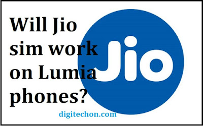Jio sim work