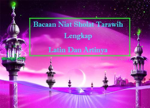 niat sholat tarawih dan witir