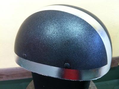 1634578959 - カスタムペイント工程  バッドボーンヘルメット シルバーリーフ スピニング