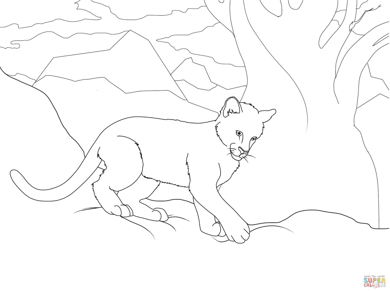 Garabatos N°2 Puma para colorear y armar 3D. En Cubiro y Sanare ...