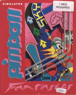 Pinball Fantasies, 1992, portada de los tres discos para Commodore Amiga