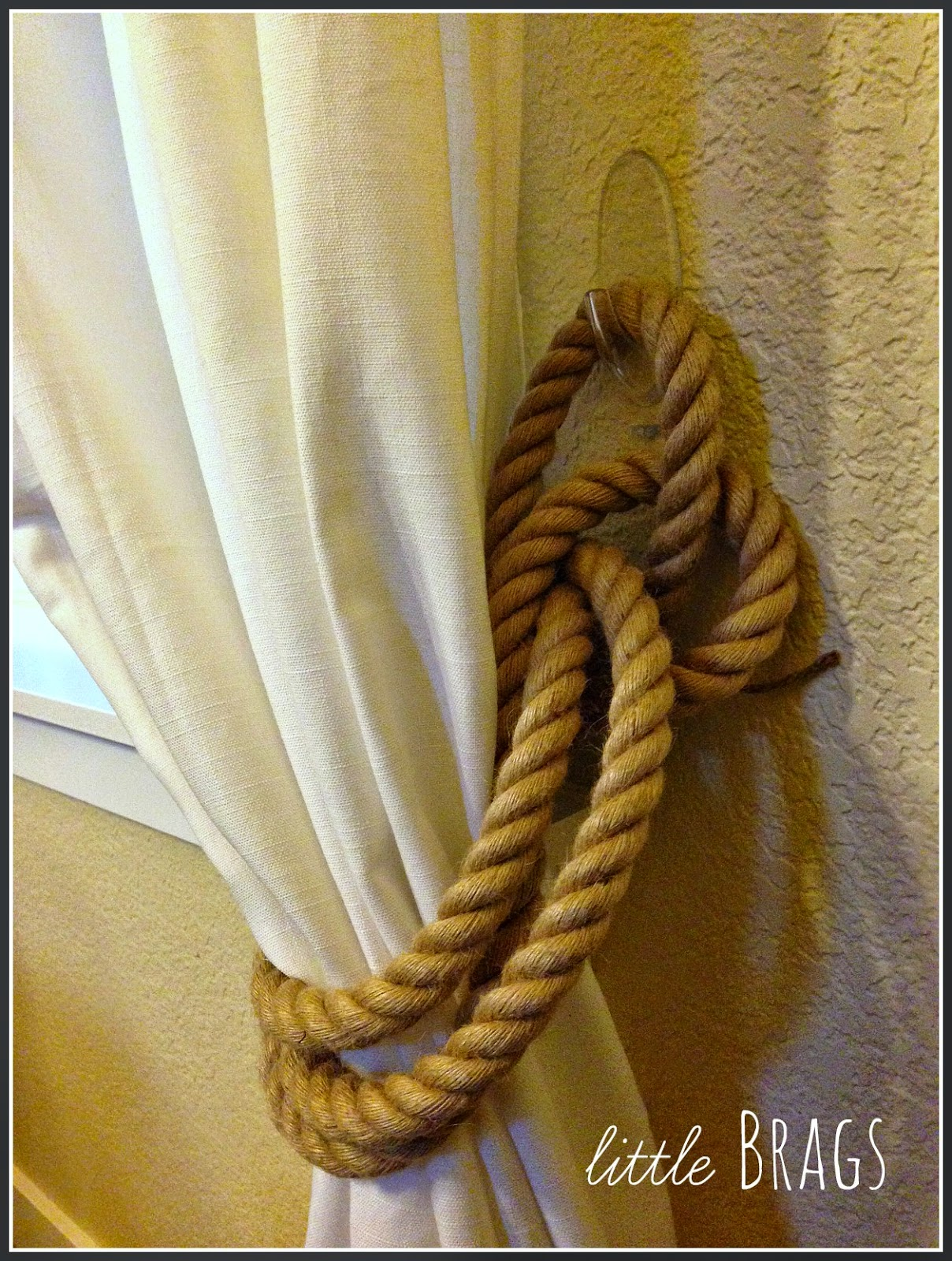 Little Brags Diy Rope Tie Backs Restoration Hardware Inpired