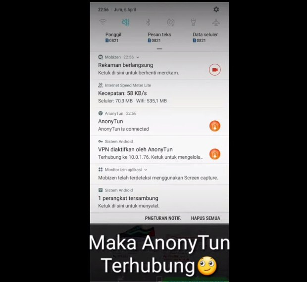 Praktek Kegunaan Aplikasi AnoNytun