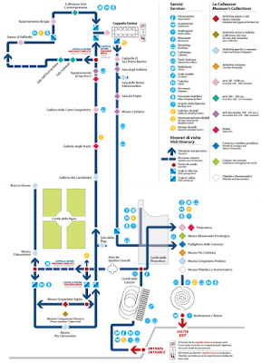 Mappa Musei Vaticani