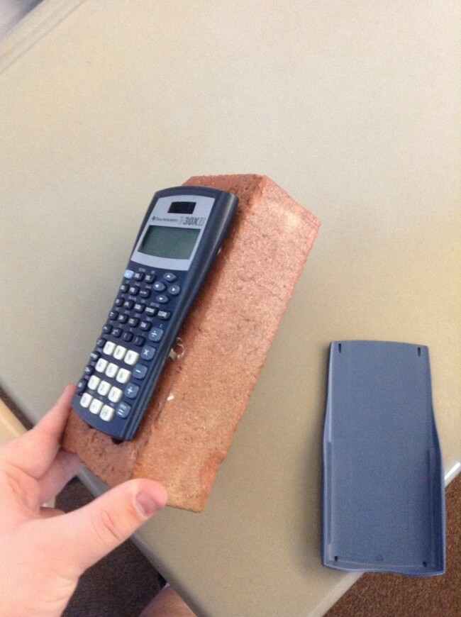 16 Inspiring Photos Prove That Teachers Can Have A Great Sense Of Humor - Our teacher is fed up with students who do not return calculators.