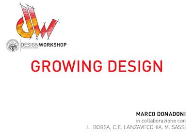 Growing Design - politodesignworkshop - 4/8 Marzo 2019