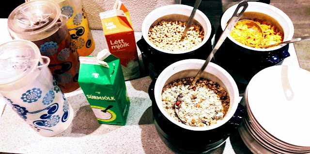 Cereal, juice, milk breakfast The Metropolitan Reykjavik Iceland