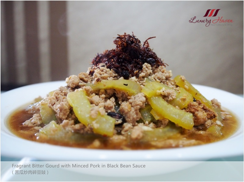 fragrant bitter gourd with minced pork black bean
