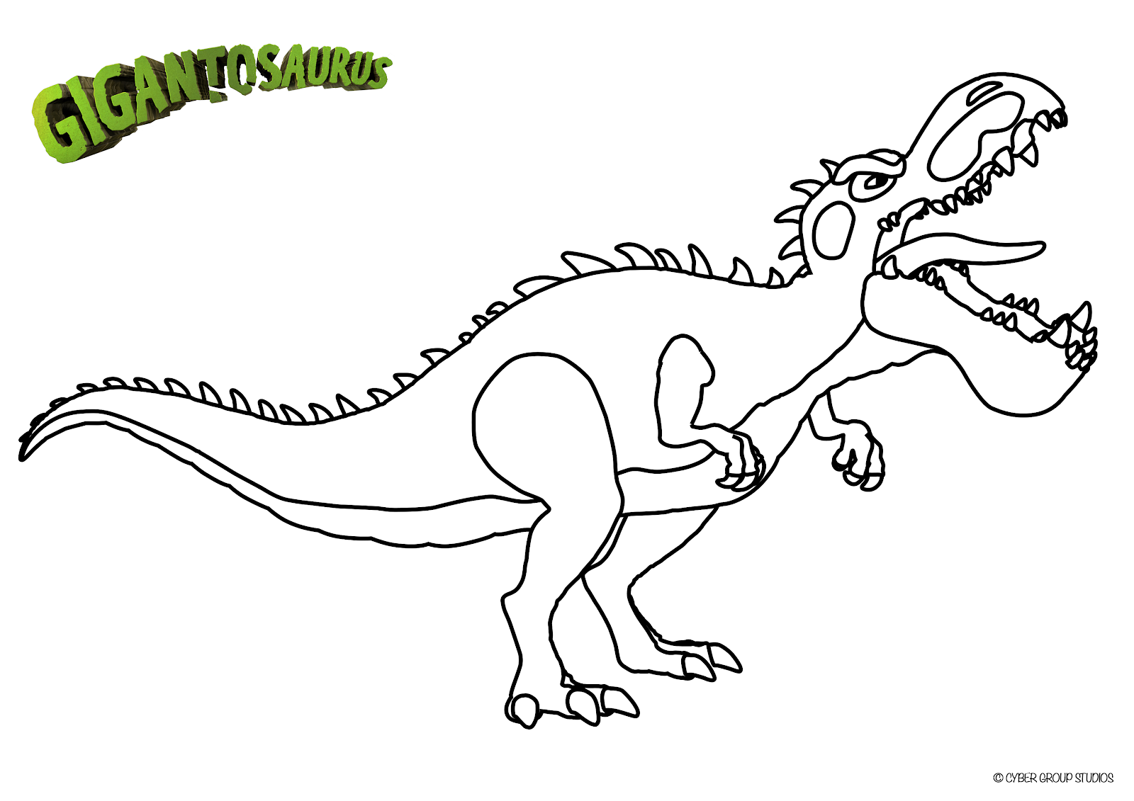 Gigantosaurus on Disney Junior Free Printables