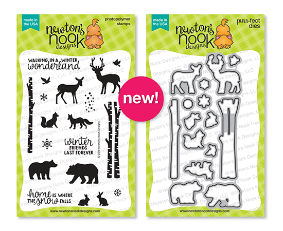 Winter Animals & Birch Trees | Serene Silhouettes stamp set by Newton's Nook Designs #newtonsnook
