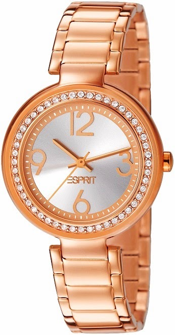 Esprit Bela Crystal Rose Gold Watch: Price INR 8,495
