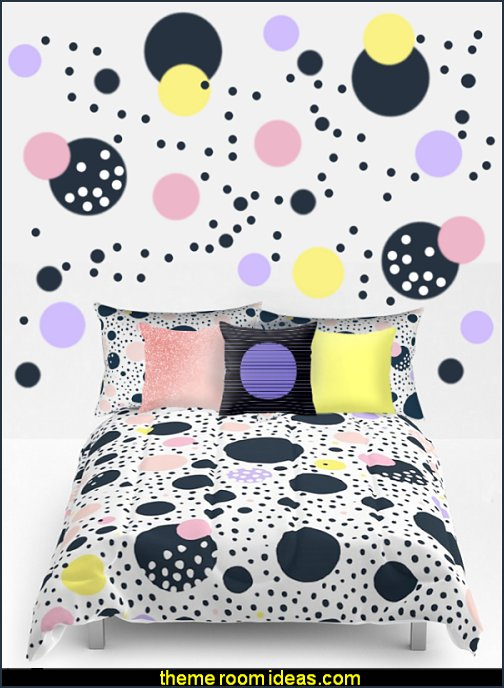 polka dot bedding - Polka Dot decals - polka dot walls - polka dot pillows