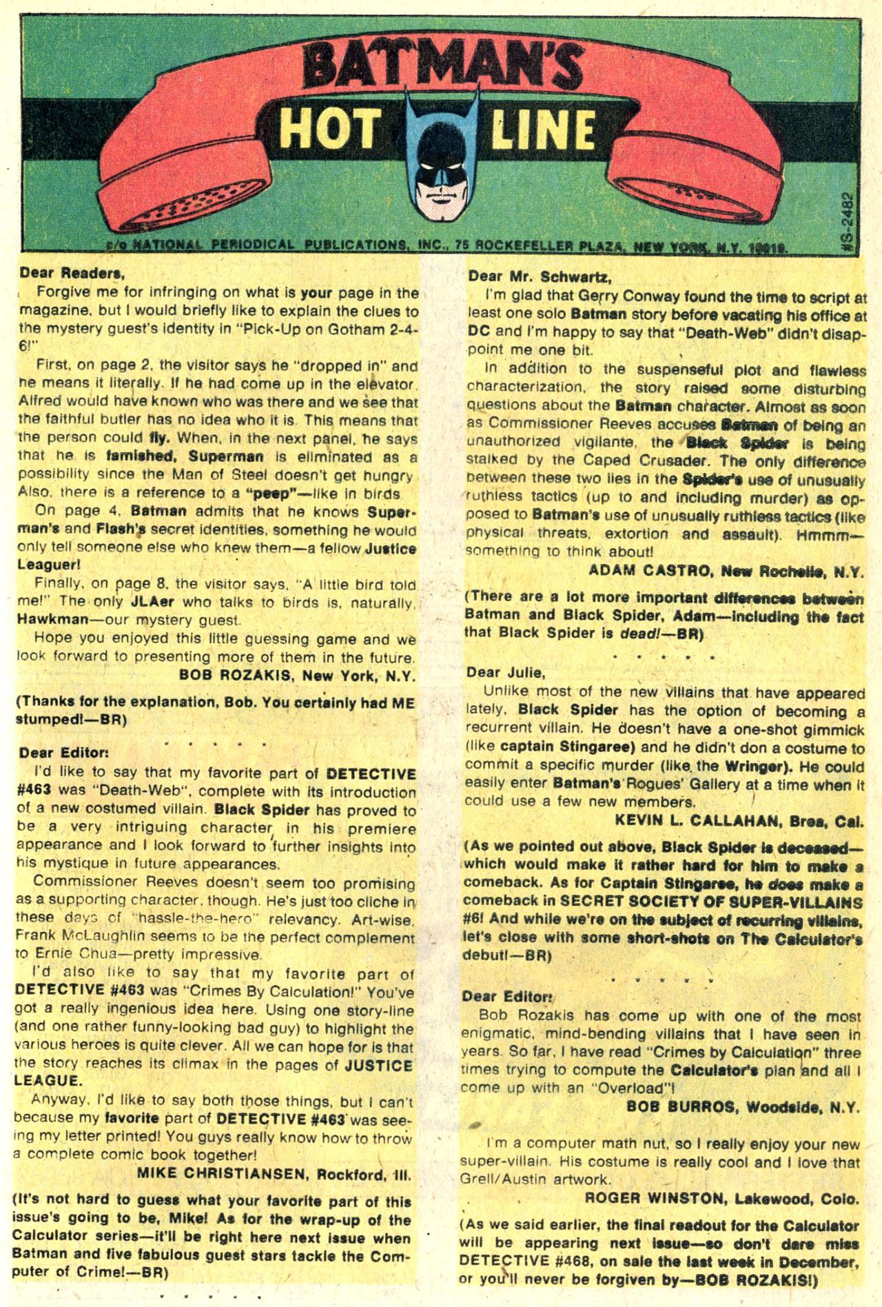 Detective Comics (1937) 467 Page 33