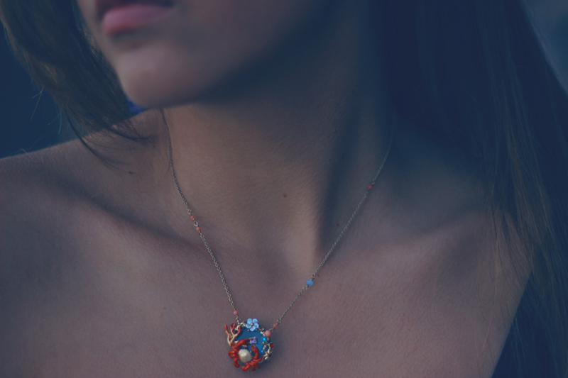 aimerose les nereides fond marin collection 2015 crab necklace