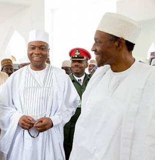 Buhari Reunites with Saraki Today At Aso Rock Mosque