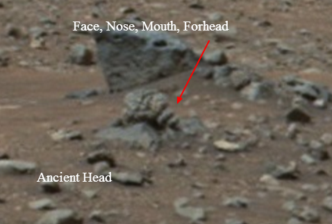 martian head found on mars