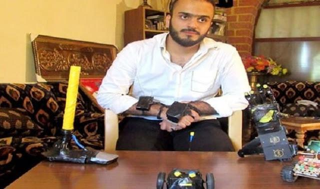 طالب سوري يصمم كفاً صناعية تتحرك تلقائياً مع حركة اليد-فيديو