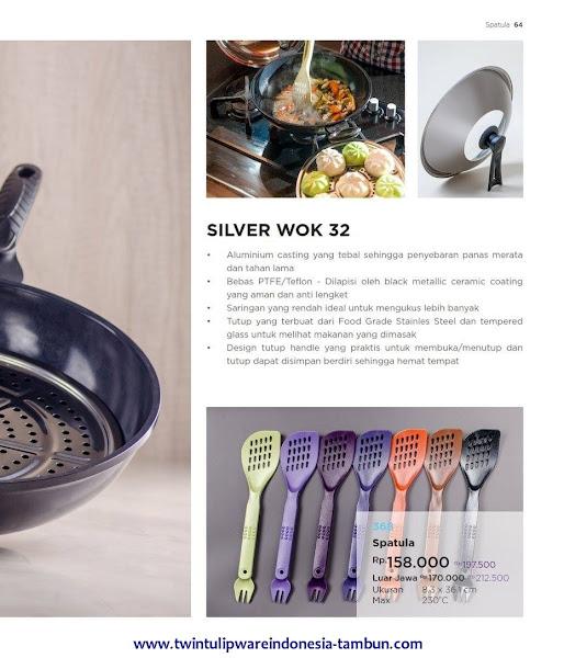 Spatula, Silver Wok 32, Wajan Tulipware 2017