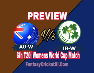 AUS-W V/s IRE-W, 6th T20i DREAM11 TEAM