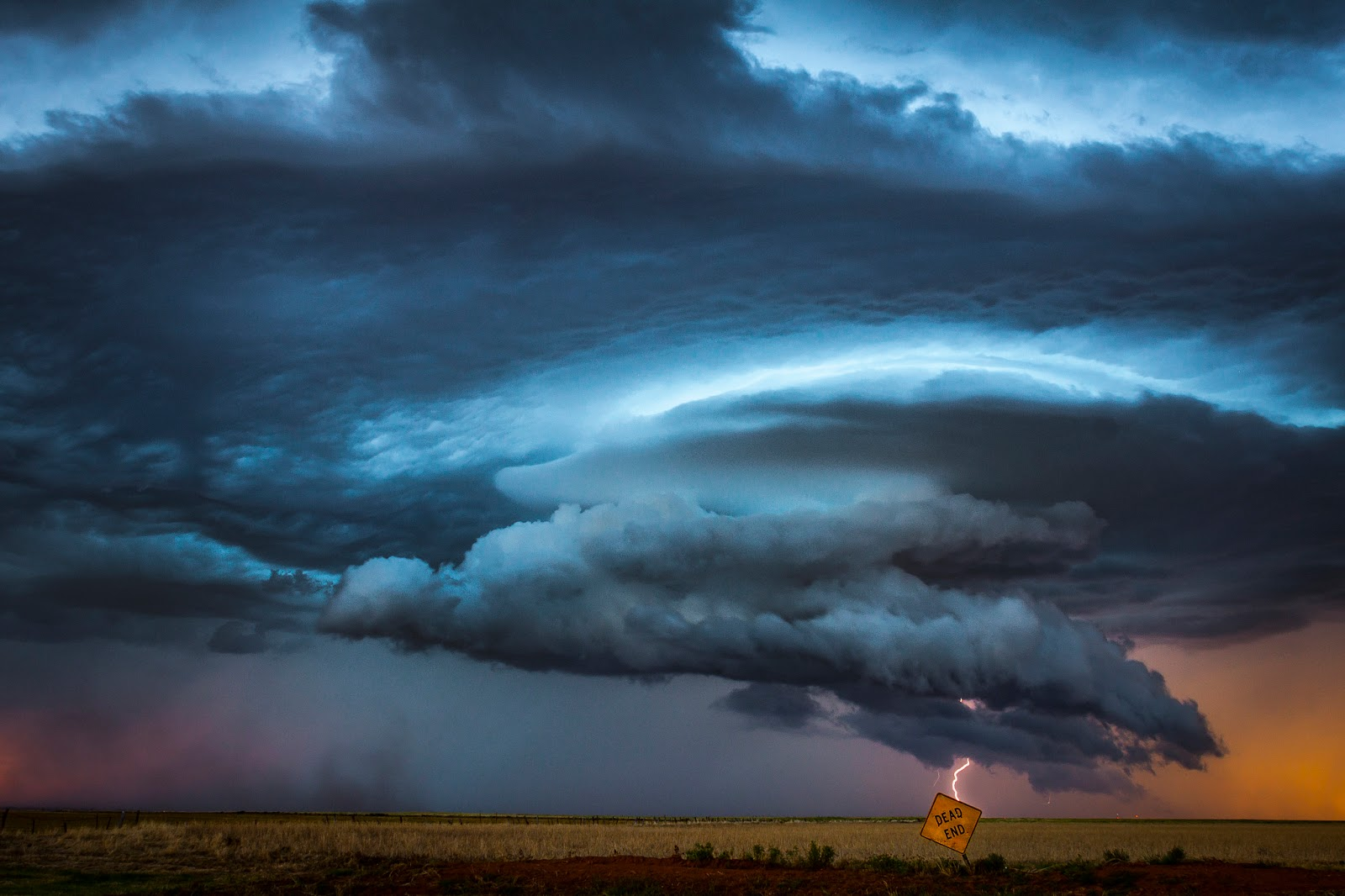 Supercell Thunderstorm At Night