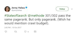 karena 301 dan 302 keduanya melewati PageRank yang sama