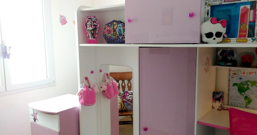Blog maman ief une chambre monster high pour ma princesse - Deco chambre monster high ...