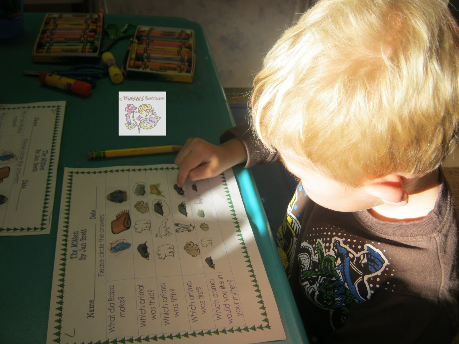 A Kinders Garten Vintage Homeschool The Mitten
