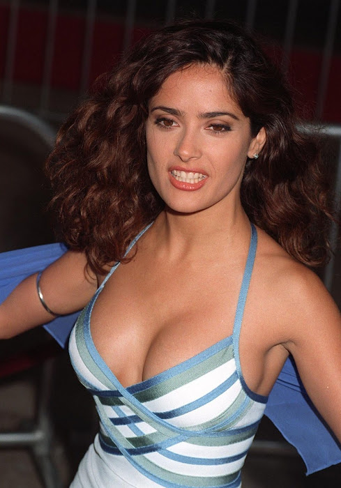 salma hayek cleavege hot photoshoot