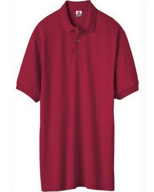 Hanes 055X Mens Comfortblend Pique Polo - Deep Red – XL