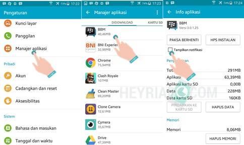 Cara Menyembunyikan Notifikasi Aplikasi Android 4 Cara Menyembunyikan Notifikasi Aplikasi Android (UPDATED)