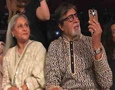 Amitabh Bachchan whistles while recording Shweta Bachchan ramp walk video viral