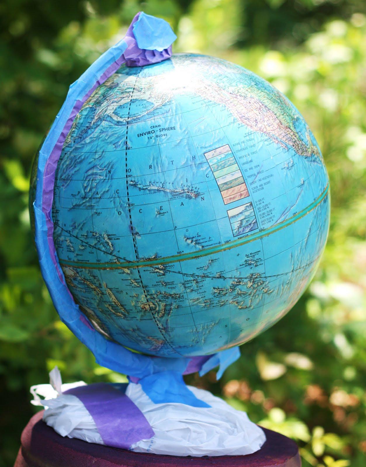 Hoot Designs Chalkboard Globe Project