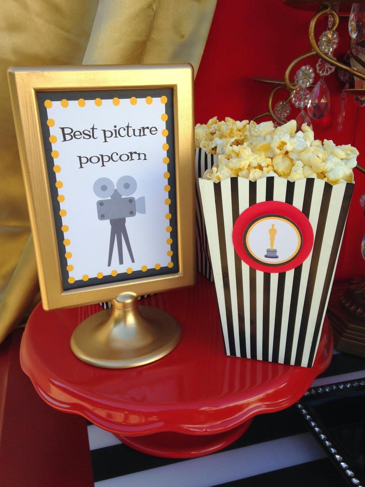 Oscar Party Ideas Free Printables