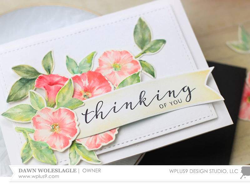 Stamp Away With Me: No-Line Watercoloring Modern Petunias with Dawn