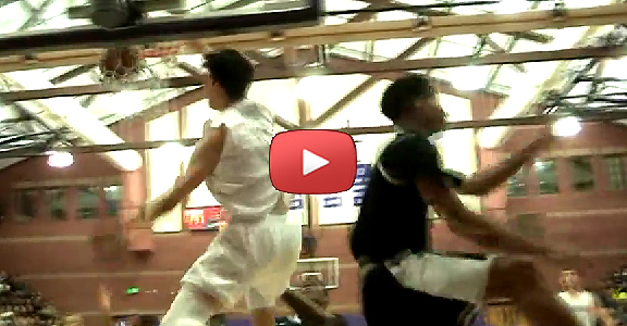 Kobe Paras' MONSTER Baseline Dunk Against Morgan Park HS (VIDEO)