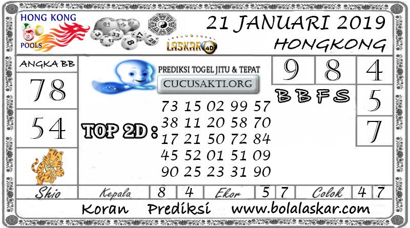 Prediksi Togel HONGKONG LASKAR4D 21 JANUARI 2019