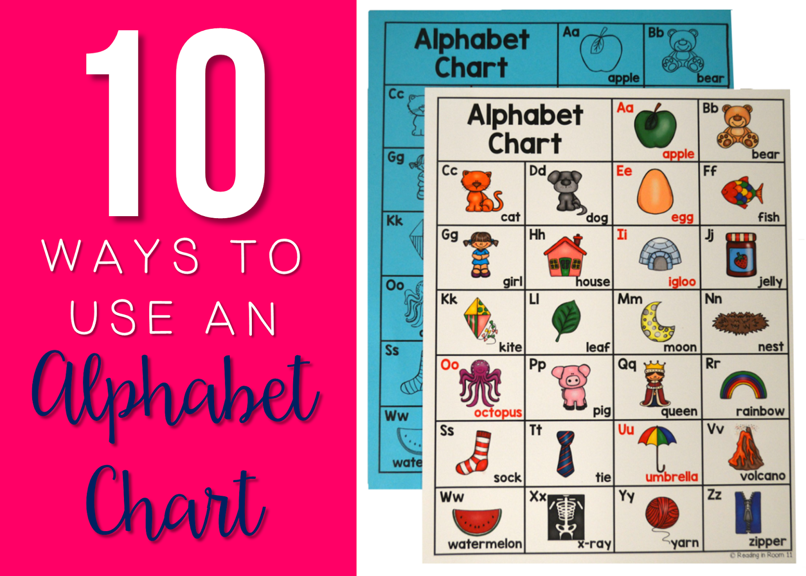 10 Ways to Use an Alphabet Chart Reading in Room 11