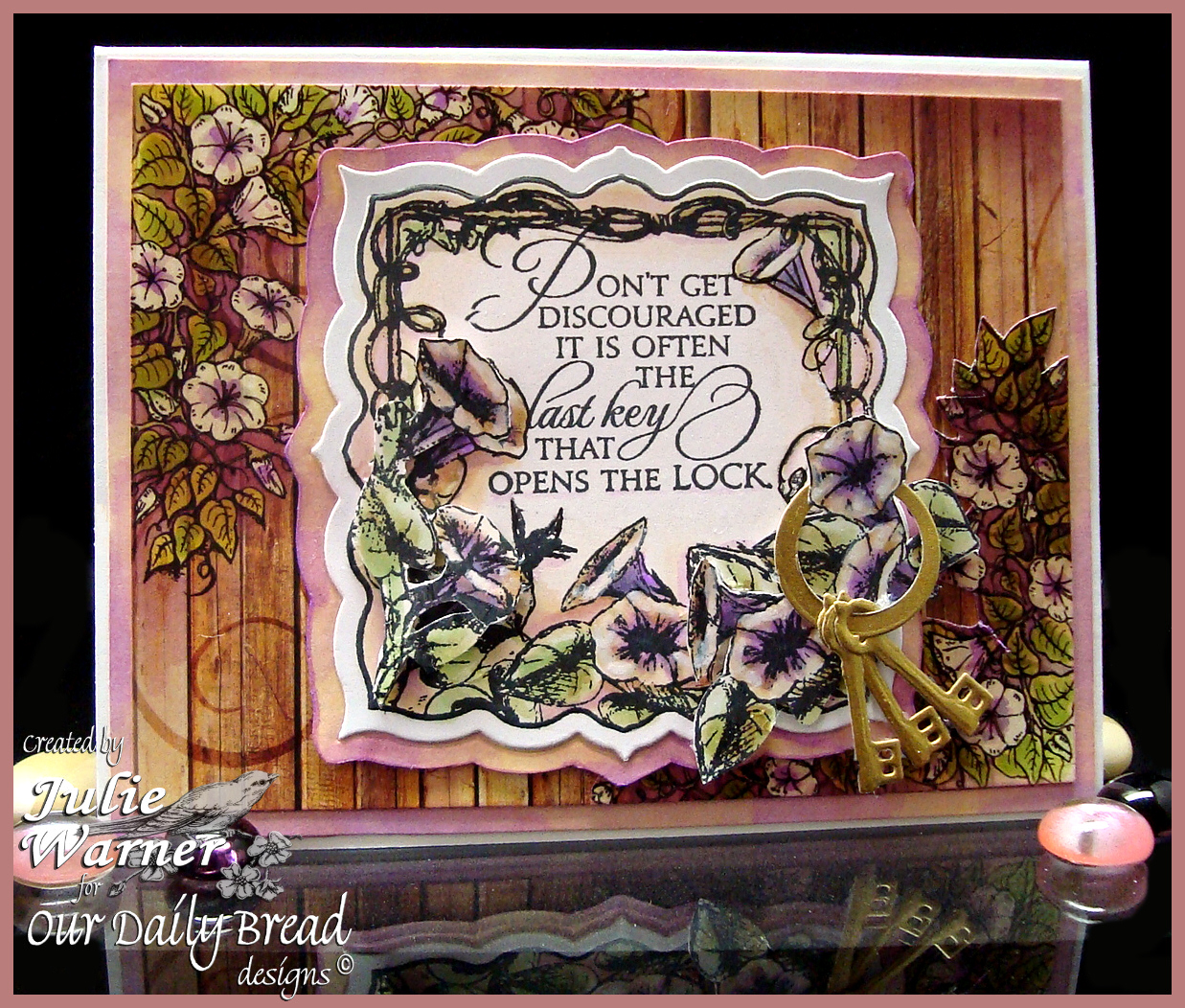 Stamps - Our Daily Bread Designs Key to Heaven, Morning Glory, ODBD Rustic Beauty Paper Collection, ODBD Custom Angel Wings Die
