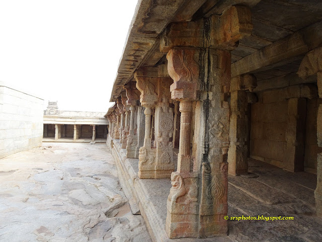 Halls for the Pilgrims Coming from Distant Places to Lepakshi Temple, Anantapur, Andhra Pradesh, India srsphotos.blogspot.com