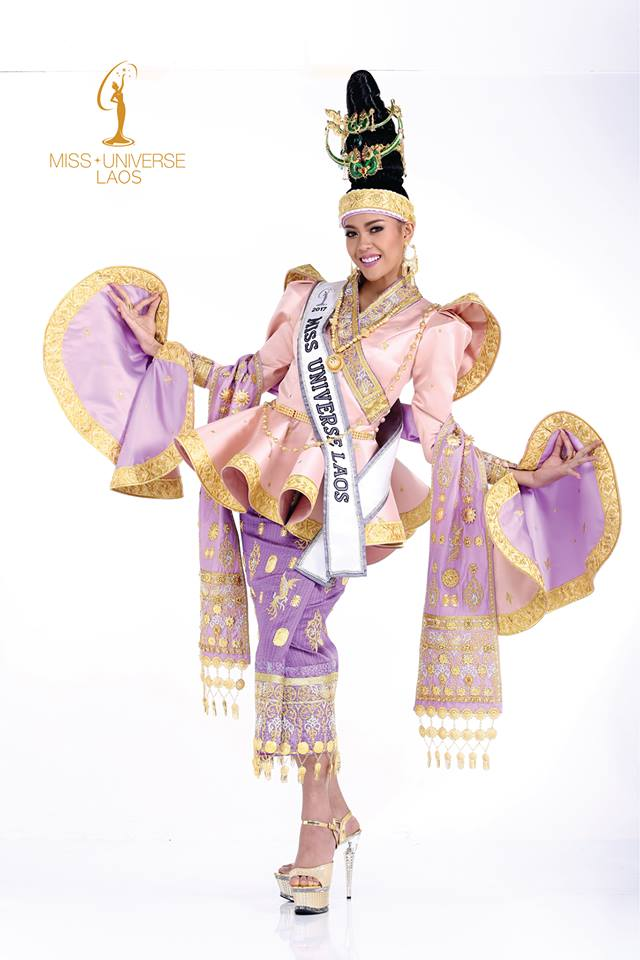 Miss Universe Laos Souphaphone Somvichith Inspired by the Luang Prabang  traditional dress, Miss Universe Laos\u0027 national costume is made in  beautiful silk